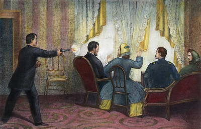 Republican Painting - Lincoln Assassination, 1865 by Granger