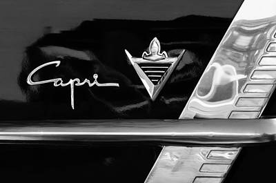 Photograph - Lincoln Capri Emblem by Jill Reger