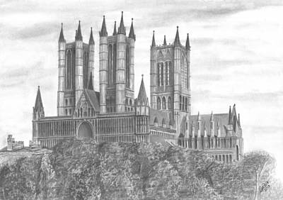 Drawing - Lincoln Cathedral  by Chris Cox