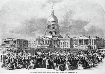 Republican Painting - Lincoln Inauguration, 1865 by Granger