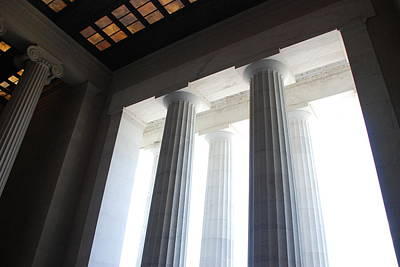 Photograph - Lincoln Stained Glass And Columns by Kenny Glover