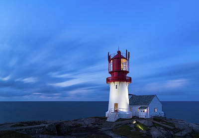 North Sea Photograph - Lindesnes Fyr - Lighthouse In The South Of Norway by Georgy Krivosheev