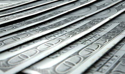 Lay Digital Art - Lined Up Close-up Banknotes by Allan Swart