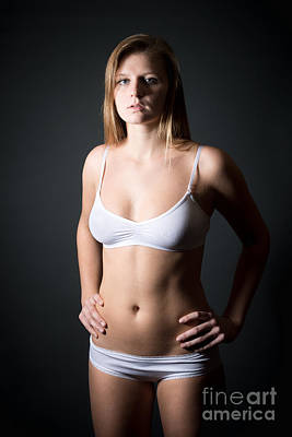 Female Body Photograph - Lingerie Portrait by Jochen Schoenfeld