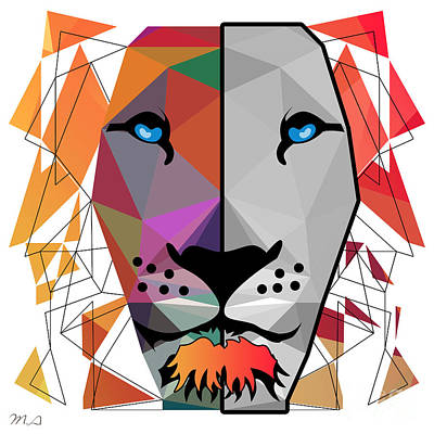 Caricature Mixed Media - Lion by Mark Ashkenazi