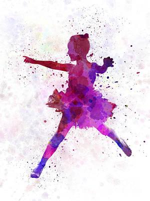 Child Ballerinas Painting - Little Girl Ballerina Ballet Dancer Dancing by Pablo Romero