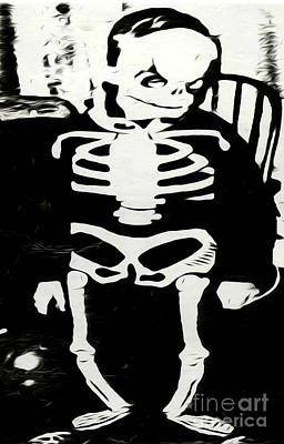 Painting - Little Skeleton by Gregory Dyer