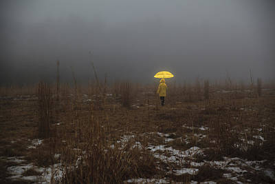Photograph - Little Yellow Riding Hood by Alex Potemkin