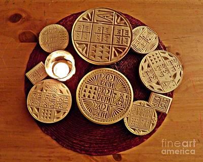 Liturgical Bread Stamps Art Print by Sarah Loft