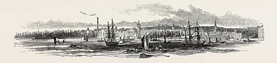 Liverpool, From Woodside, In 1846 Art Print