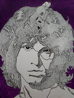 Drawing - Lizard King-jim Morrison. by Richard Brooks