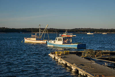Lobster Boats Maine  Art Print