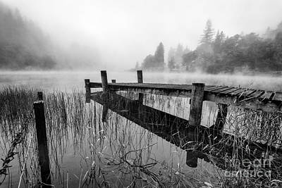 Park Scene Photograph - Loch Ard Early Mist by John Farnan