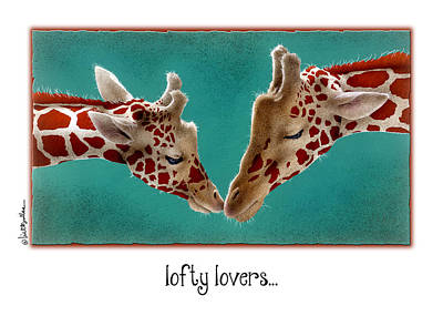 Painting - Lofty Lovers... by Will Bullas