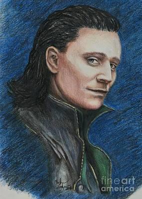 Thor Drawing - Loki by Christine Jepsen