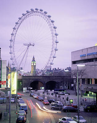 London Eye Wall Art - Photograph - London Eye by Andy Williams/science Photo Library