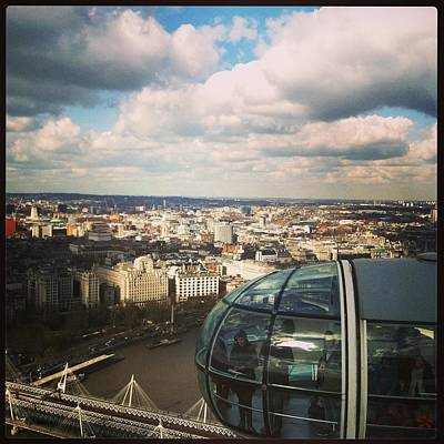 Abstract Skyline Wall Art - Photograph - London Eye by David  Simmons