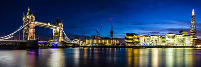 Photograph - London Panoramic Tower Bridge Wide by Ken Brannen