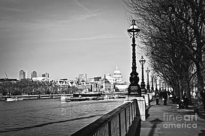 Photograph - London View From South Bank by Elena Elisseeva