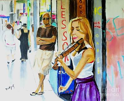 Painting - Lone Audience by Judy Kay