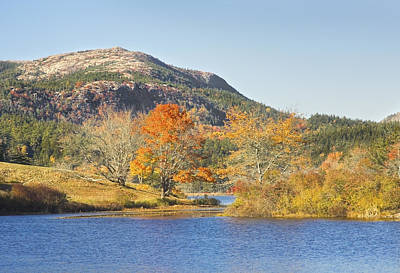 Maine Meadow Photograph - Long Pond Acadia National Park Mount Desert Island Maine by Keith Webber Jr