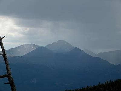 Photograph - Longs Peak In Rain Clouds by Thomas Samida