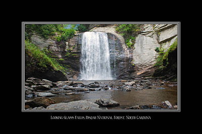 Photograph - Looking Glass Falls North Carolina by Charles Beeler