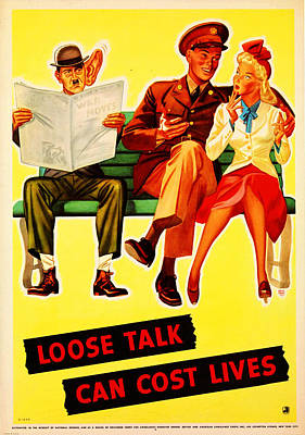 Loose Painting - Loose Talk Can Cost Lives by MotionAge Designs