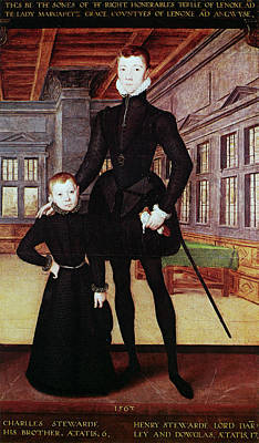Painting - Lord Darnley (1545-1567) by Granger