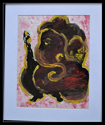Painting - Lord Ganesha-3 by Anand Swaroop Manchiraju