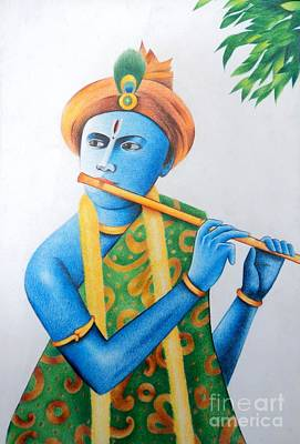 Painting - Lord Krishna by Tanmay Singh