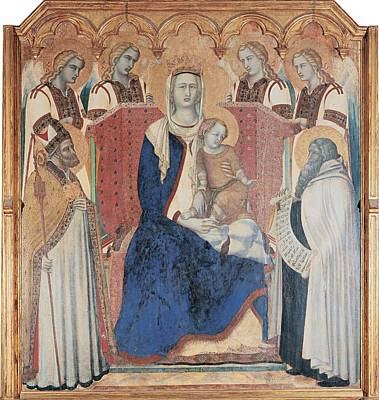Lorenzetti Pietro, Carmine Altarpiece Art Print by Everett