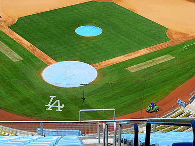 Photograph - Los Angeles Dodgers by Jeff Lowe