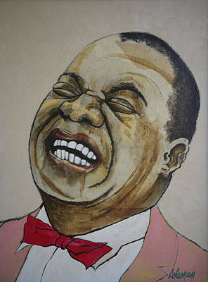 Cornet Painting - Louis Armstrong by Dave Coleman
