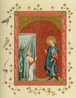 Bright Colours Drawing - Louis Ix, King Of France (reigned by Mary Evans Picture Library