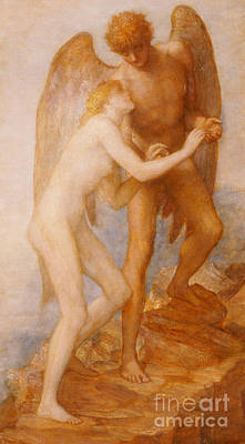 Embrace Painting - Love And Life by George Frederic Watts