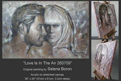 Art Print featuring the painting Love Is In The Air 260709 by Selena Boron