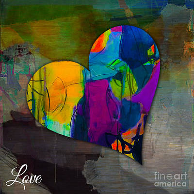 Mixed Media - Love by Marvin Blaine