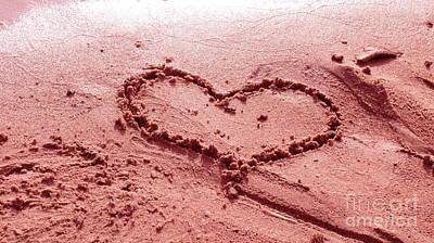 Photograph - Pink Love Sand Beach by France Laliberte