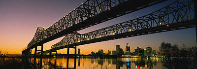 Louisiana Photograph - Low Angle View Of A Bridge by Panoramic Images
