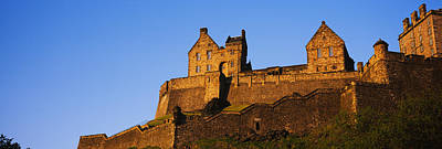 Edinburgh Castle Photograph - Low Angle View Of A Castle, Edinburgh by Panoramic Images