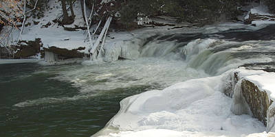 Muddy Creek Falls Photograph - Lower Swallow Falls by Neal Blizzard