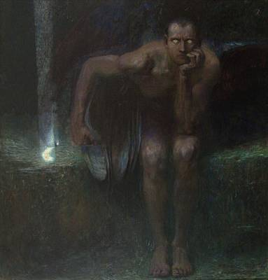 Painting - Lucifer  by Franz von Stuck