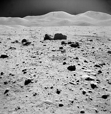 Fifteen Photograph - Lunar Surface by Nasa