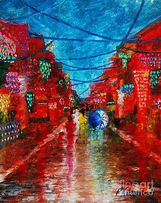 Philippine Art Painting - Lungkot Sa Likod Ng Pahiyas by Paul Hilario