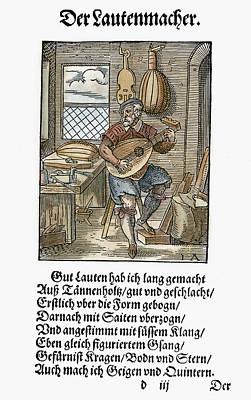 Lute Maker, 1568 Art Print