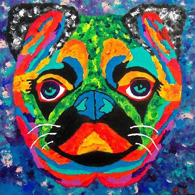 Pug Face Painting - Luv Pug by Ron Kandt
