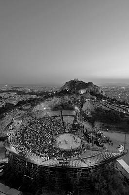 Theater Photograph - Lycabettus Hill by George Atsametakis