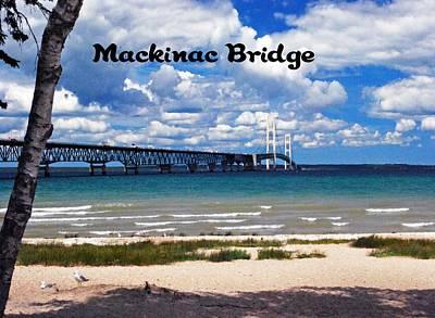 Photograph - Mackinac Bridge by Gary Wonning