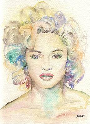 Nude Marilyn Monroe Painting - Madonna by Marina Sotiriou
